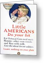 Little Americans Do Your Bit Greeting Card