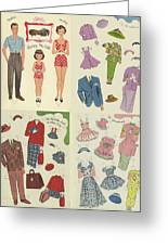 Little Golden Book Paper Doll Sees America Greeting Card