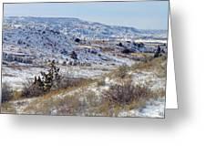 Little Missouri Winter Prairie Greeting Card