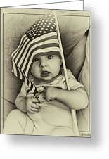 Little Patriot Greeting Card