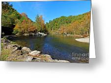 Little River From Little River Gorge Road At Townsend Entrance Greeting Card