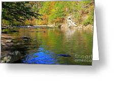Little River In Autumn In Smoky Mountains National Park Greeting Card