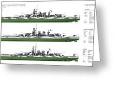 Littorio Class Battleships Port Side Greeting Card