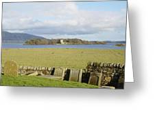 Loch Leven Castle From Kinross Greeting Card