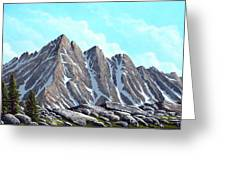 Lofty Peaks Greeting Card