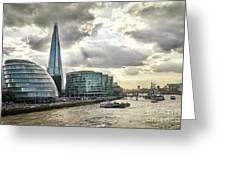 London City Hall At Sunset Greeting Card
