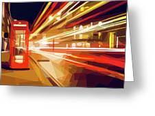 London Phone Box Greeting Card by ISAW Company