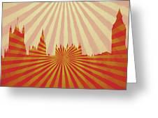 London Pop Art Greeting Card
