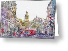London Street 1 Greeting Card