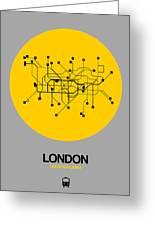 London Yellow Subway Map Greeting Card