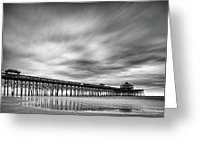 Long Exposure Monochrome Of The Edwin S  Taylor Folly Beach Pier -  Charleston South Carolina by Silvio Ligutti