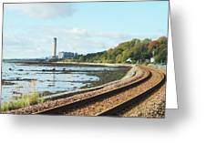 Longgannet Power Station And Railway Greeting Card
