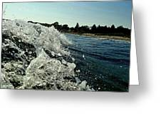 Look Into The Wave Greeting Card