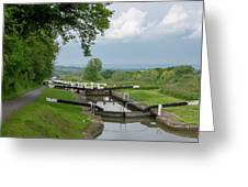 Looking Down Caen Hill Greeting Card