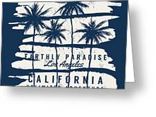 Los Angeles, California Typography For Greeting Card