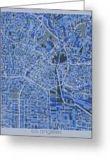 Los Angeles Map Retro 5 Greeting Card