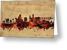 Los Angeles Skyline Vintage Greeting Card