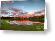 Lost Lake Sunset Greeting Card