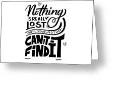 Lost Until Mom Cant Find It Funny Humor Gift Or Present For Wife Greeting Card