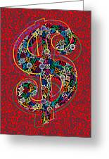 Louis Vuitton Dollar Sign-7 Greeting Card
