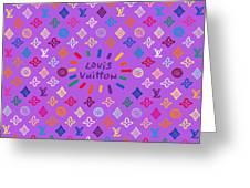 Louis Vuitton Monogram-5 Greeting Card