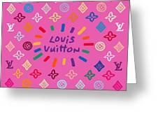 Louis Vuitton Monogram-9 Greeting Card