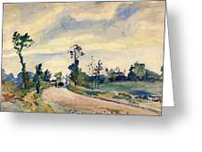 Louveciennes, Road Of Saint-germain - Digital Remastered Edition Greeting Card