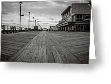 Low On The Boardwalk Greeting Card