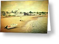 Low Tide Provincetown Cape Cod Massachusetts Shoreline Textured Greeting Card