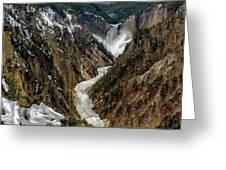 Lower Falls In Yellowstone Greeting Card