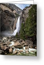 Lower Yosemite Fall Greeting Card