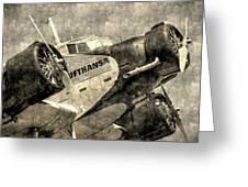 Lufthansa Junkers Ju 52 Vintage Greeting Card