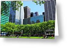 Lunch Break In Manhattan Greeting Card