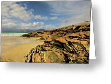 Luskentyre Digital Painting Greeting Card