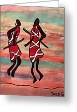 Maasai Dancers Greeting Card