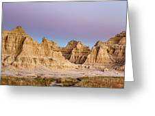 magenta Dawn in the Badlands  Greeting Card