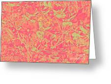 Magnolia Abstract Greeting Card by Mae Wertz