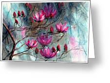 Magnolia At Midnight Greeting Card