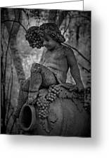 Magnolia Child Statue Greeting Card