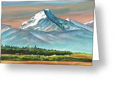 Majestic Mount Cook Greeting Card