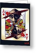 Makiavellian Conundrum - Tupac Shakur Greeting Card