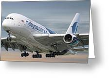 Malaysia Airlines Airbus A380-841 Greeting Card