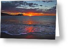 Malibu Pier Sunrise Greeting Card