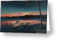 Malletts Bay Sunrise Colchester Vermont Greeting Card