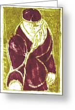 Man In A Crimson Hat Greeting Card