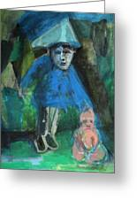 Man In A Park With A Baby Greeting Card