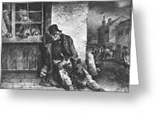 Man On The Street Greeting Card