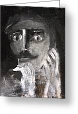 Man With A Handlebar Moustache Greeting Card