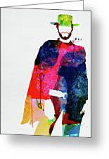 Man With No Name Watercolor Greeting Card