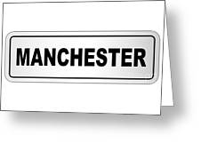 Manchester City Nameplate Greeting Card
